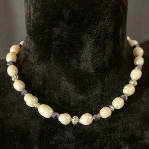 Jewelry - 12 mm Freshwater Pearl necklace, accents 18 inch